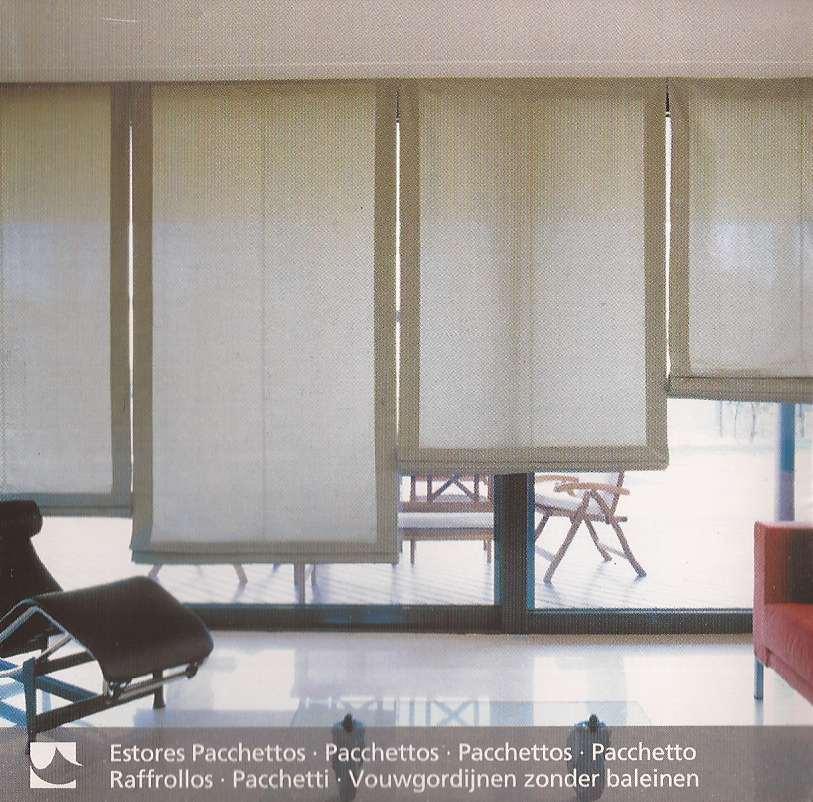 Estores pachetos aluminios alcaraz for Tipos de cortinas y estores