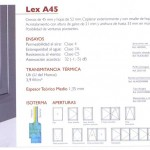 Sistemas abatibles - Lex A45