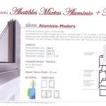 Sistemas abatibles mixtos - Diana aluminio y madera