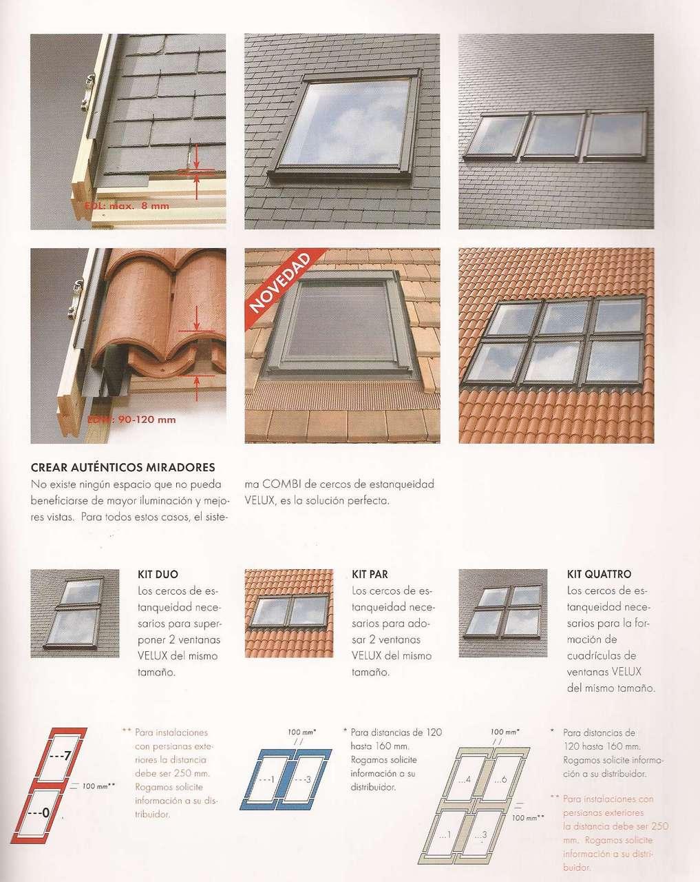 Ventanas fijas para tejados materiales de construcci n - Materiales para tejados ...